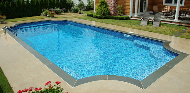 True Blue Pools Gothic Shaped Vinyl Pool Liner Installation