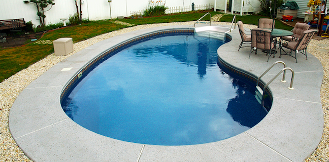 True Blue Pools Kidney Shaped Vinyl Pool Liner Installation