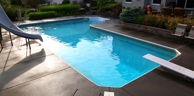 True Blue Pools L Shaped Vinyl Pool Liner Installation