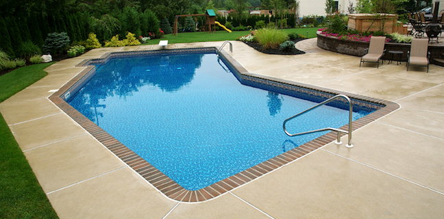 True Blue Pools Lazy L Vinyl Pool Liner Installation