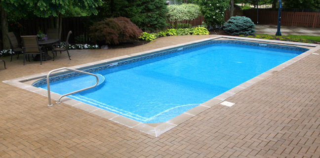 True Blue Pools Rectangle Vinyl Pool Liner Installation