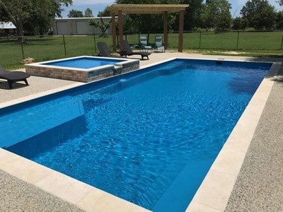 Lounger Fiberglass Swimming Pool